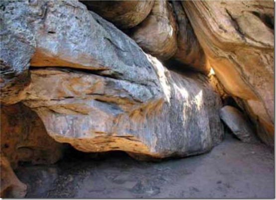 Python Rock, oldest religious site, Tsodilo Hills, Botswana, 77 kya