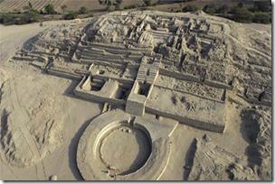 Fig 12 Ampitheatre Pyramid Caral