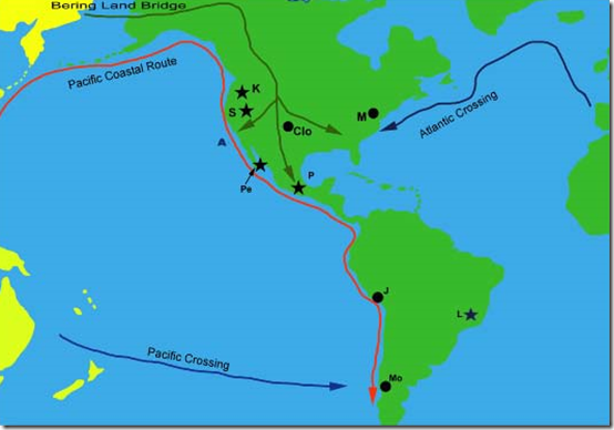 Fig 10 Possible Maritime Routes into South America- the 'kelp highway'