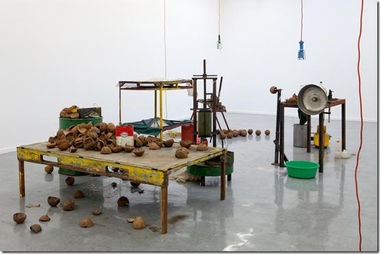 Installation shot from Nicholas Mangan 'Progress in Action'